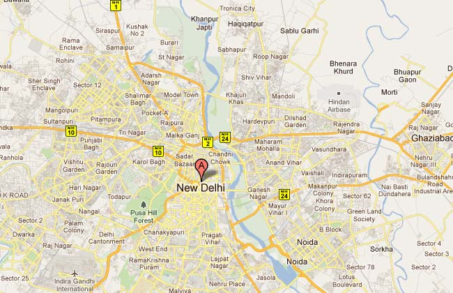 Google Map of Delhi