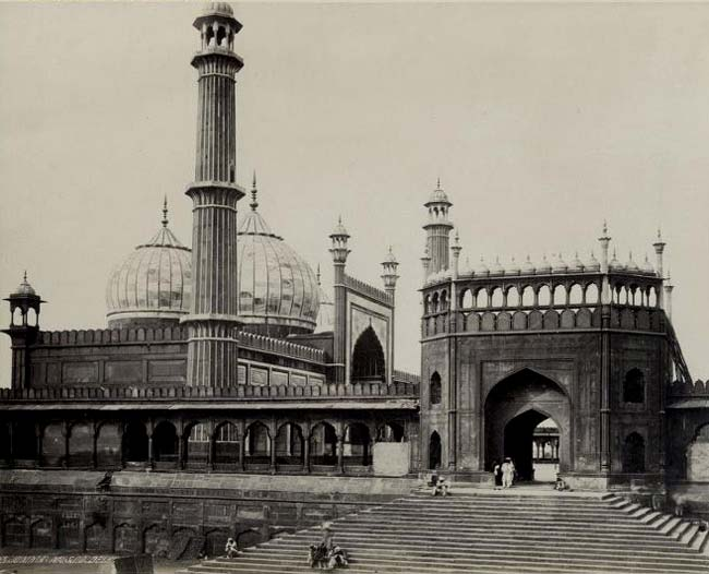 The Masjid-i Jahan-Numa or Jama Masjid - Delhi 1870
