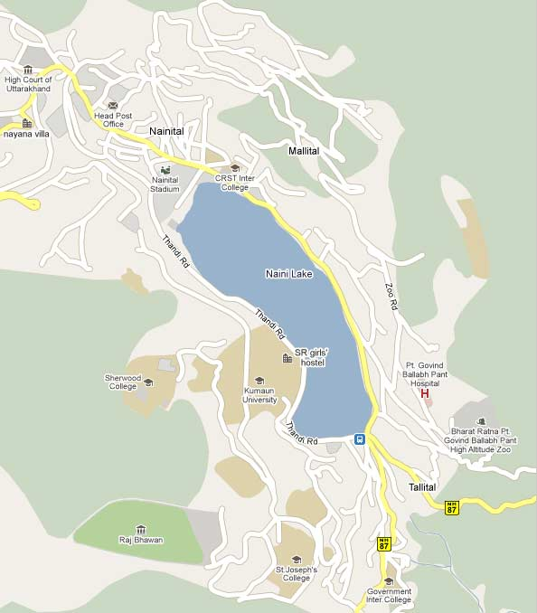 FULL MAP OF NAINITAL