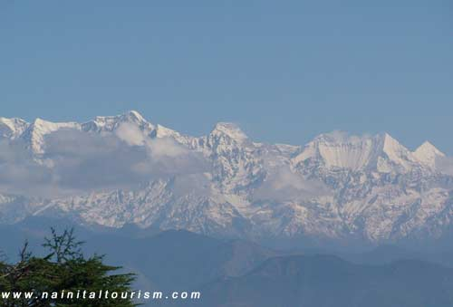 Himalayas from Ramgarh