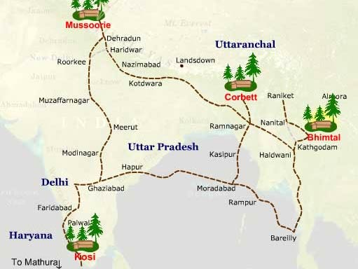 Map To Reach Mukteshwar
